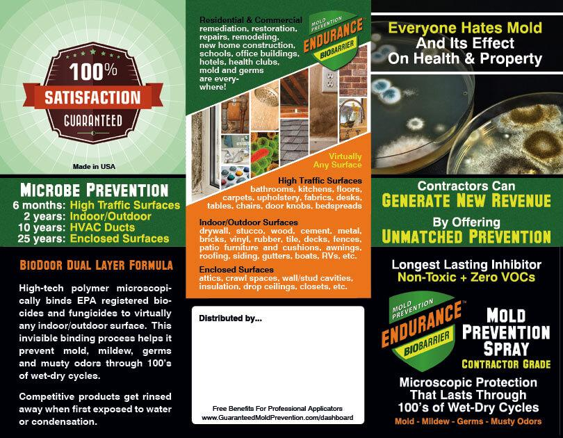 marketing files for mold product distributors and applicators. Black Bedroom Furniture Sets. Home Design Ideas