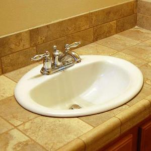Moldpreventbathroomsinktilecounter Guaranteed Mold Prevention - Molded bathroom sinks