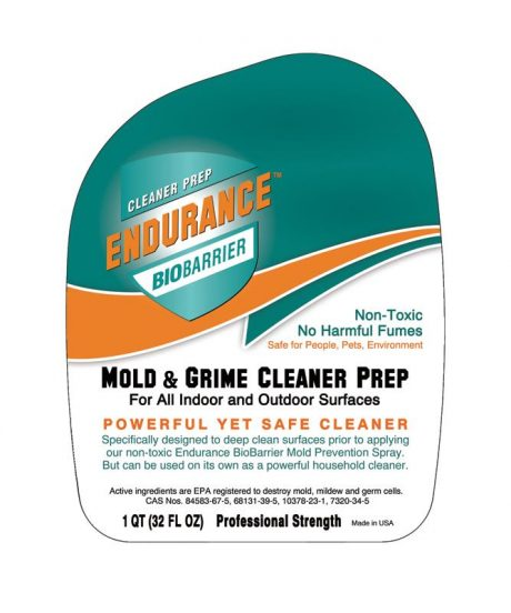 Mold Remover Cleaner Endurance BioBarrier 32oz Front Label