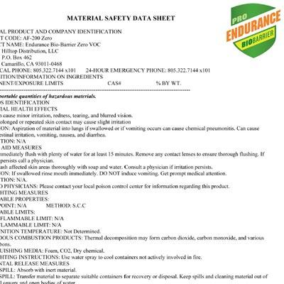 Material Safety Data Sheet Msds For Ebb Guaranteed Mold